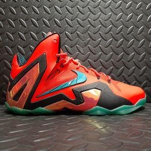 """Lebron 11 Elite """"hero Nike 642846-600 used size 10"""